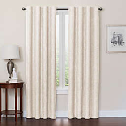 Quinn 63-Inch 100% Blackout Insulated Rod Pocket/Back Tab Window Curtain Panel in Ivory