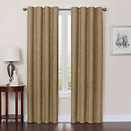 Quinn 108-Inch 100% Blackout Insulated Rod Pocket/Back Tab Window Curtain Panel in Mocha