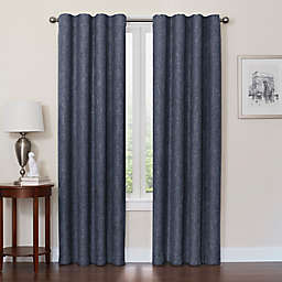 Quinn 63-Inch 100% Blackout Insulated Rod Pocket/Back Tab Window Curtain Panel in Navy