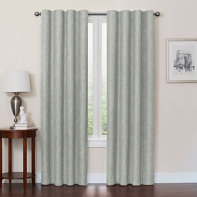 Alternate image 1 for Quinn 108-Inch 100% Blackout Insulated Rod Pocket/Back Tab Window Curtain Panel in Jadestone