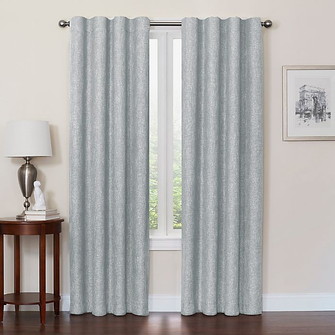 Alternate image 1 for Quinn 100% Blackout Insulated Rod Pocket/Back Tab Window Curtain Panel