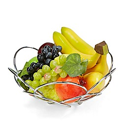 Mind Reader Modern Stainless Steel Fruit and Vegetable Basket in Silver