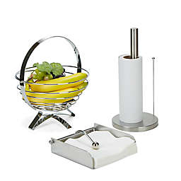 Mind Reader 3-Piece Stainless Steel Kitchen Table Décor Set