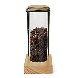 Mind Reader Coffee Glass/Bamboo/Steel Canister