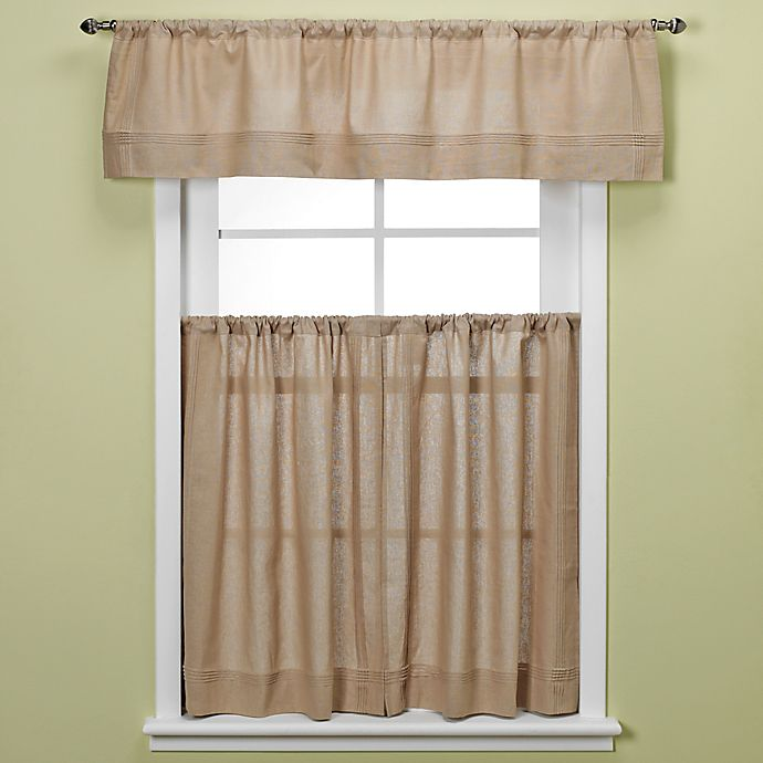Maison Kitchen Window Curtain Tiers In Linen