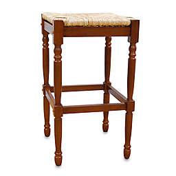 Carolina Chair & Table Company Antique Hawthorne Bar Stool in Walnut