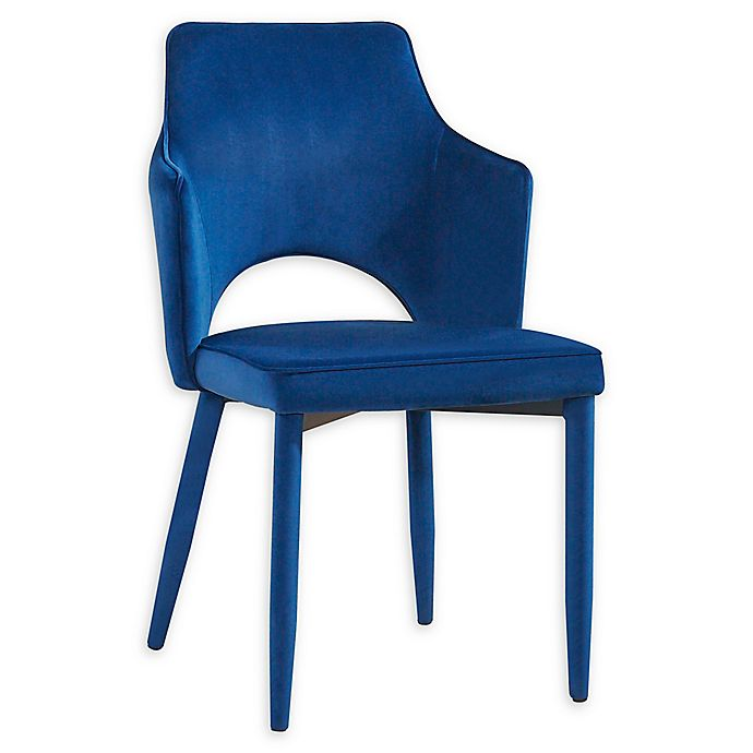 Alternate image 1 for TOV Furniture™ Velvet Aquila Chair in Navy