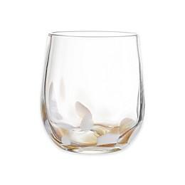 Elle Decor® Simone Stemless Glasses in White/Gold (Set of 4)