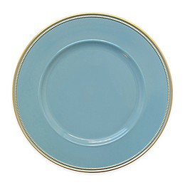 Elle Decor® Charger Plates in Blue/Gold (Set of 4)