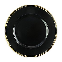 Elle Decor® Charger Plates in Black/Gold (Set of 4)
