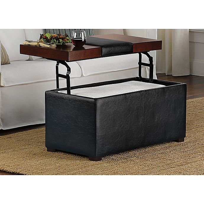 Arlington Lift Top Storage Ottoman Bed Bath And Beyond