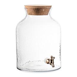 Hammered Glass Beverage Dispenser
