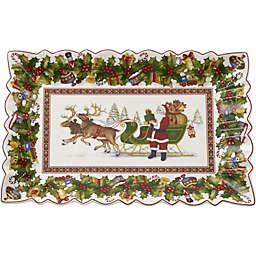 Villeroy & Boch Toy's Fantasy Santa's Sleigh Rectangular Cake Plate