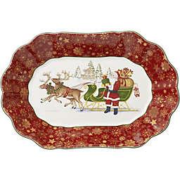 Villeroy & Boch Toy's Fantasy Santa's Sleigh 11.5-Inch Oval Bowl
