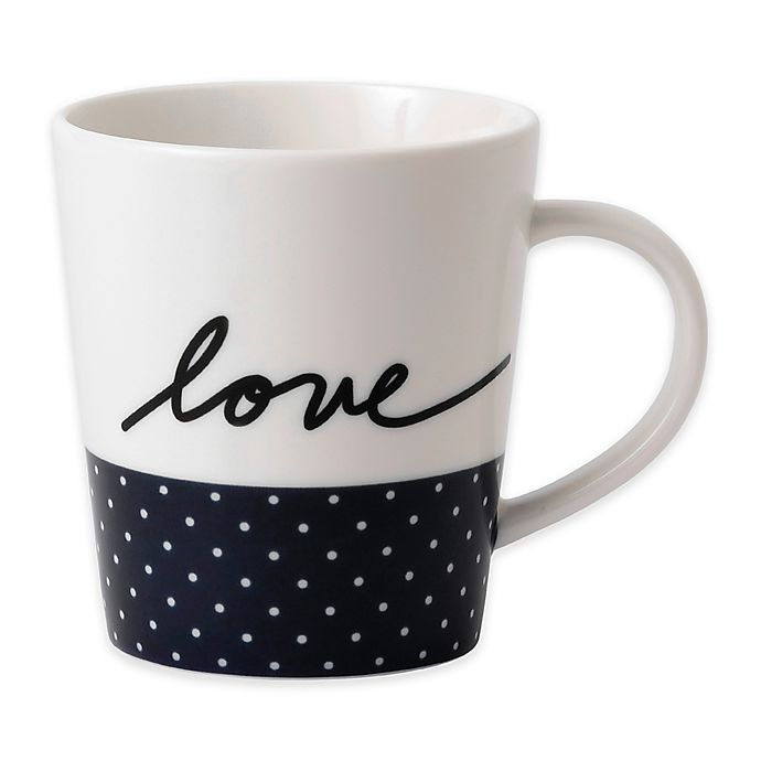 Alternate image 1 for ED by Royal Doulton Love Mug in Navy