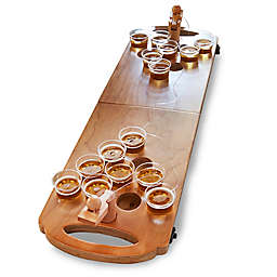HammerAxe Wooden Mini Beer Pong Set