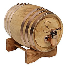 Polished Whiskey Barrel Beverage Dispenser
