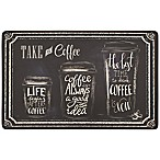 """""""Take a Coffee"""" Gelness 20"""" x 39"""" Kitchen Mat in Black"""
