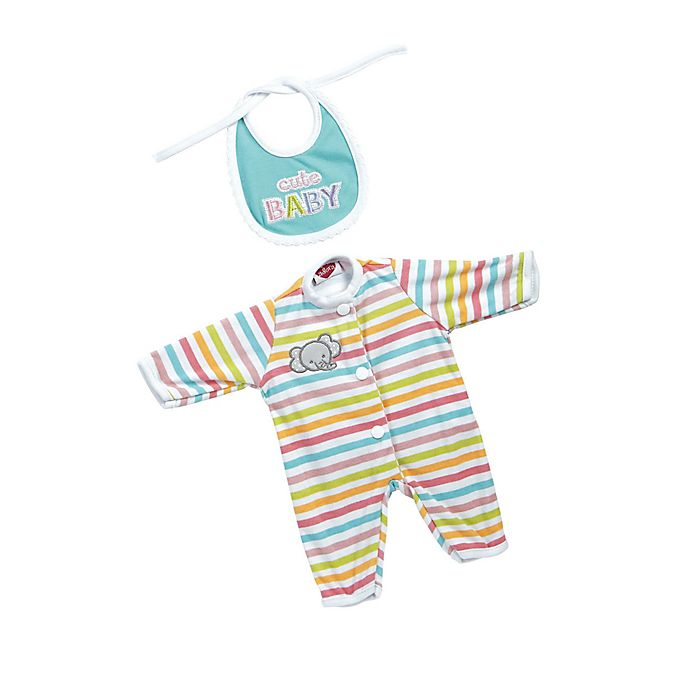 Alternate image 1 for Adora® GiggleTime Striped Elephant Baby Outfit for 15-Inch Doll