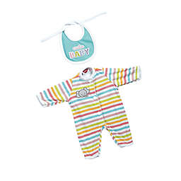 Adora® GiggleTime Striped Elephant Baby Outfit for 15-Inch Doll