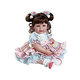 Adora® ToddlerTime Piece of Cake Baby Girl Doll with Brown Hair