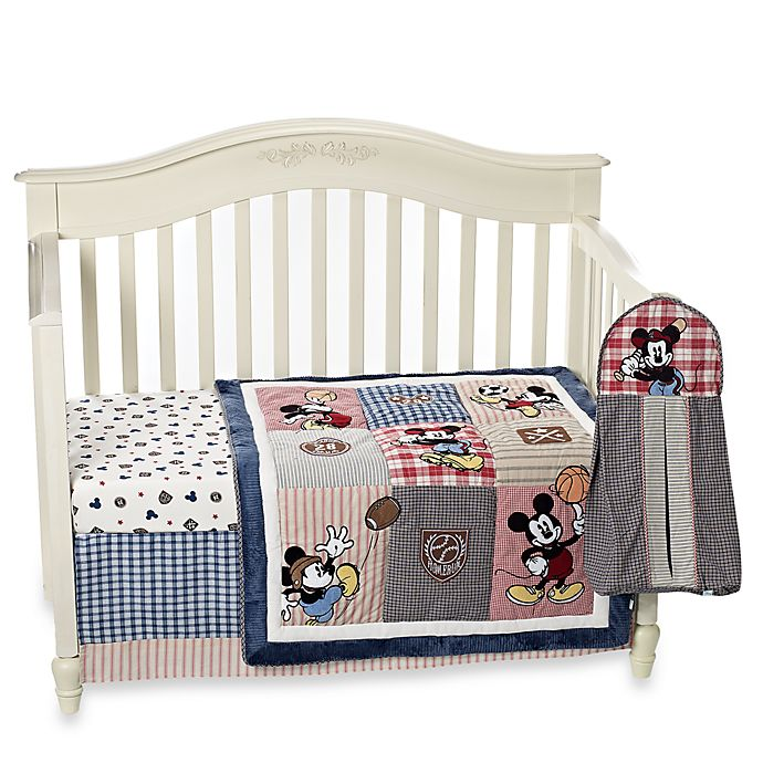Kidsline™ Vintage Mickey Mouse 4-Piece Crib Bedding Set ...