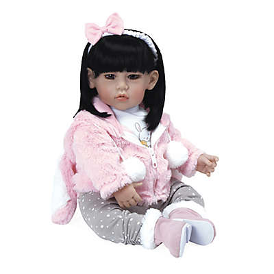 Adora® ToddlerTime Baby Cottontail Doll with Black Hair