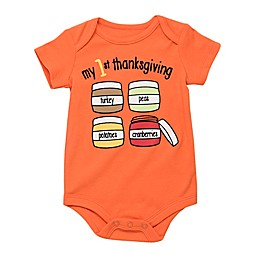 "Baby Starters® Babies With Attitude ""My 1st Thanksgiving"" Bodysuit in Orange"