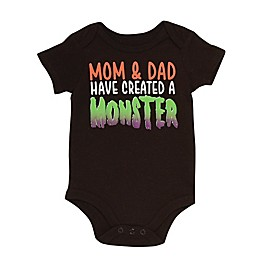 "Baby Starters® ""Made a Monster"" Bodysuit in Black"