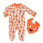 Baby Starters® Size 9M 2-Piece Mod Halloween Pumpkin Coverall and Bib Set