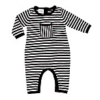 Cuddl Duds® Newborn Pointelle Sweater Knit Coverall in Black