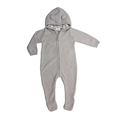 Cuddle Duds® Knit Hooded Footie in Grey