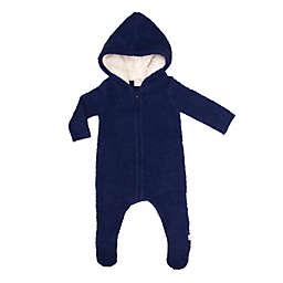Cuddl Duds® Knit Thermal Hooded Footie in Navy