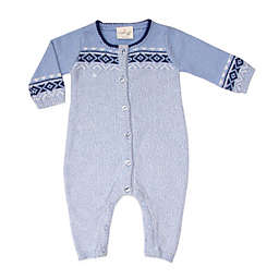 Cuddl Duds® Fair Isle Coverall in Blue