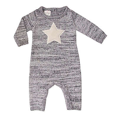 Cuddl Duds® Knit Star Coverall in Grey