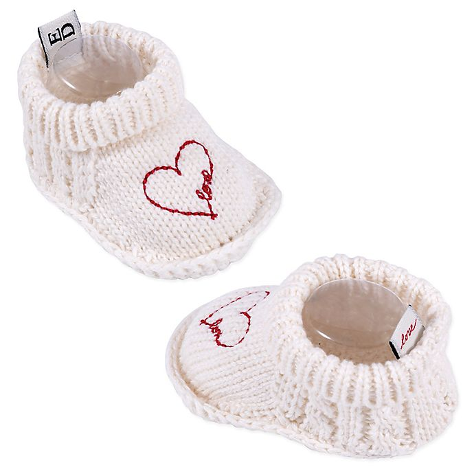 Alternate image 1 for ED by Ellen DeGeneres Size 0-6M Heart Booties in Ivory