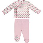 E=MC²™ Size 3M 2-Piece Pink Elephants Magnetic Pajama Set