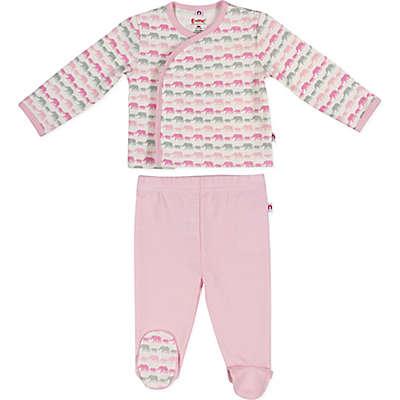 E=MC²™ 2-Piece Pink Elephants Magnetic Pajama Set