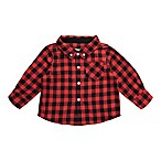 Beetle & Thread Size 0-3M Buffalo Plaid Flannel Shirtzie in Red