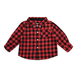 Beetle & Thread Buffalo Plaid Flannel Shirtzie in Red