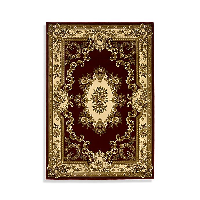 Kas Corinthian Area Rug In Red Ivory Aubusson Bed Bath