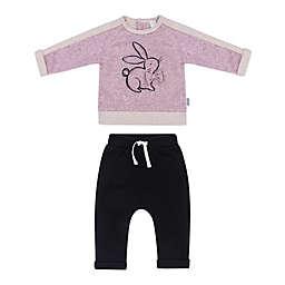 Petit Lem™ 2-Piece Bunny Sweater and Jogger Set in Purple