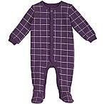 Petit Lem™ Newborn Windowpane Footie in Purple