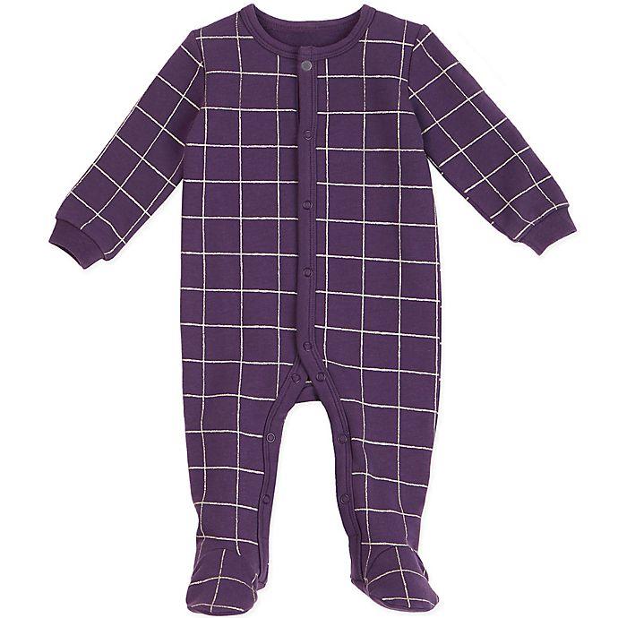 39dac834baa6 Petit Lem™ Windowpane Footie in Purple   Bed Bath & Beyond