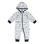 Petit Lem™ Size 3M Bear Hooded Playsuit in Grey