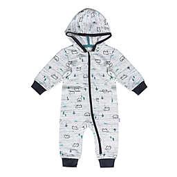 Petit Lem™ Bear Hooded Playsuit in Grey