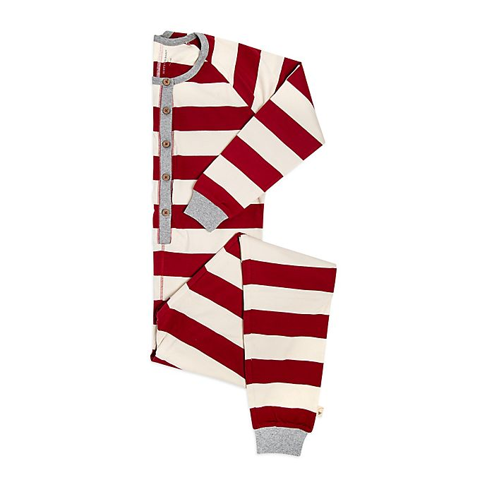 7a940f2cb Burts Bees Baby® Women s Rugby Stripe Holiday Pajama in Red