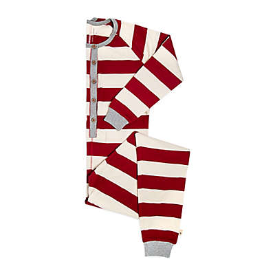 Burts Bees Baby® Women's Rugby Stripe Holiday Pajama in Red