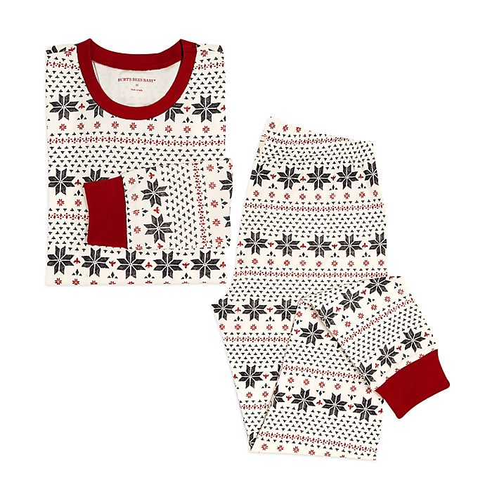 9f75d6a6c783 Burt s Bees Baby® Women s 2-Piece Snowflake Holiday Pajama Set in ...