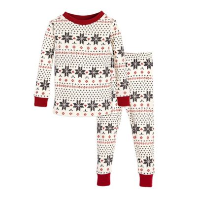 27f4f12f2 Burt s Bees Baby® 2-Piece Snowflake Holiday Pajama Set in Grey ...